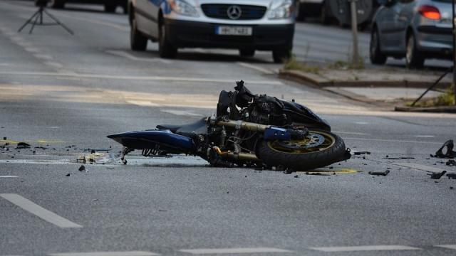 Ilustrasi kecelakaan sepeda motor.
