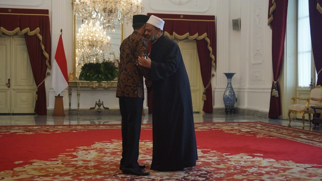 Jokowi dan Grand Syeikh Al Azhar di Istana Merdeka
