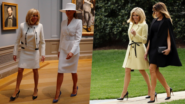 Style Brigitte Macron vs Melania Trump