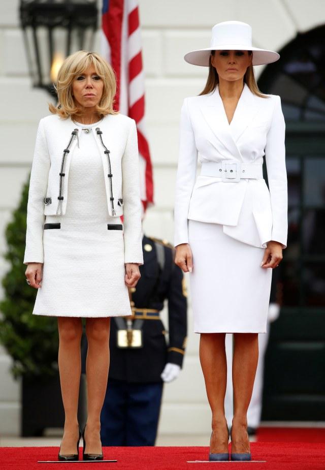 Brigitte Macron dan Melania Trump