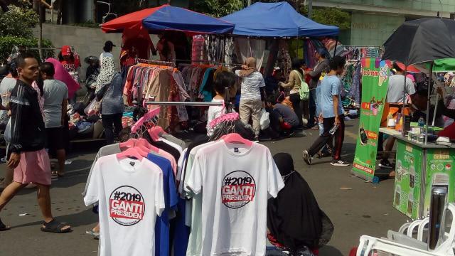 Pedagang kaus #2019GantiPresiden