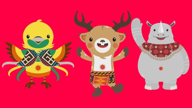 Hewan khas Indonesia maskot Asian Games 2018.