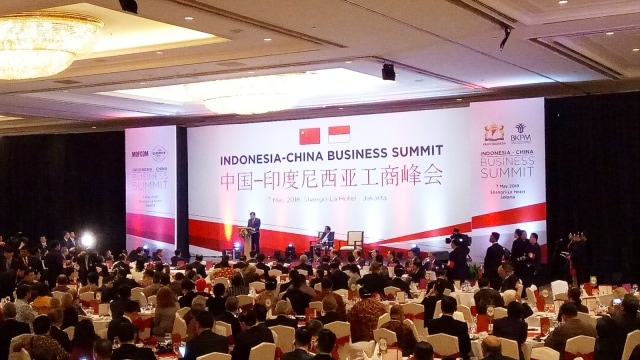 Jusuf Kalla di Indonesia-China Business Summit
