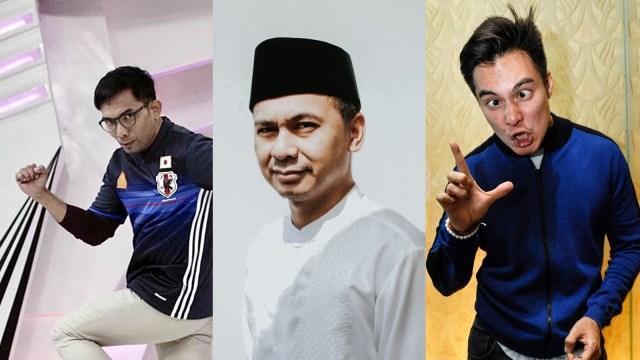 Indra Herlambang, Raditya Dika, Baim Wong.