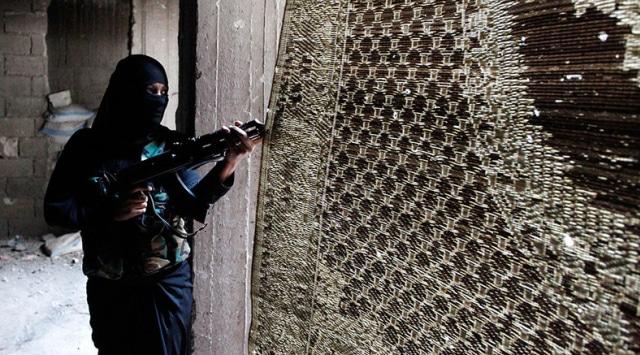 Ilustrasi Wanita ISIS
