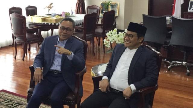 Pertemuan Zulkifli Hasan dan Cak Imin di DPR