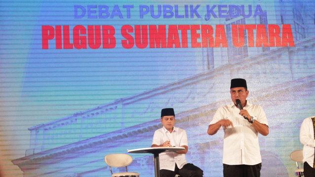Debat publik pilgub Sumatera Utara.