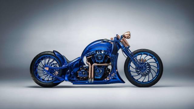 Tampil Mewah Modifikasi Harley Davidson Bertabur 360 Berlian Kumparan Com