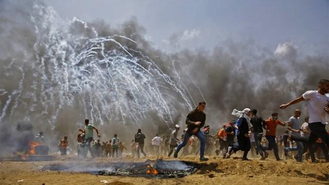 Warga Palestina protes peresmian kedutaan AS