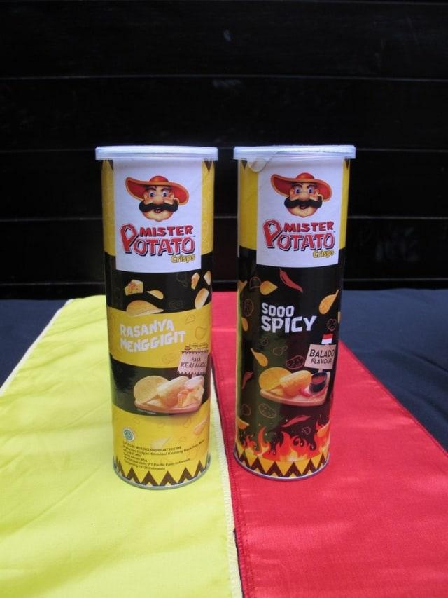 Mister Potato Rasa Keju Madu dan Rasa Balado