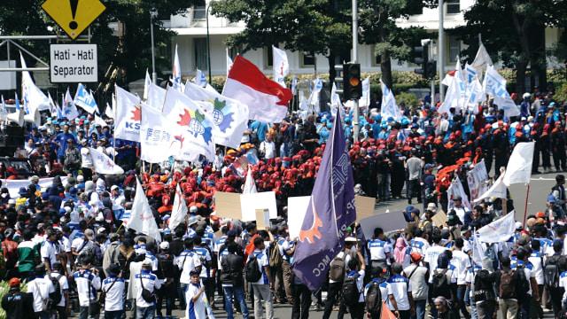 Aksi Buruh Internasional di Jakarta