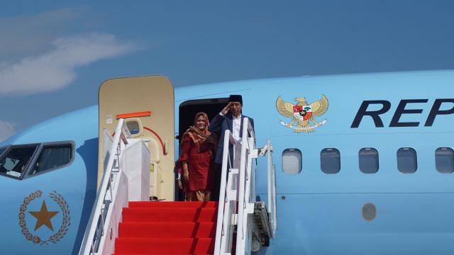 Jokowi dan Iriana Widodo Bertolak ke Jakarta