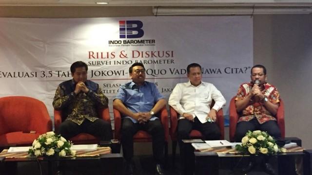 Indo Barometer: Jokowi 48,7%, Prabowo 20,5%, Gatot 5,4% (853349)