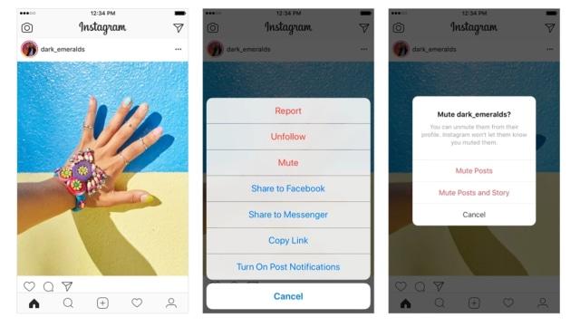 78c0946a01e9 Pengguna Instagram Kini Bisa  Mute  Postingan dan Stories Orang Lain ...