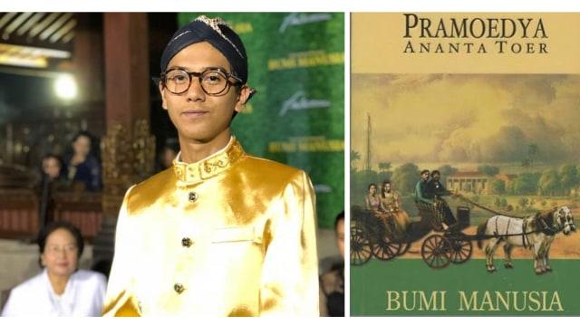 Iqbaal Ramadhan dengan Buku 'Bumi Manusia'