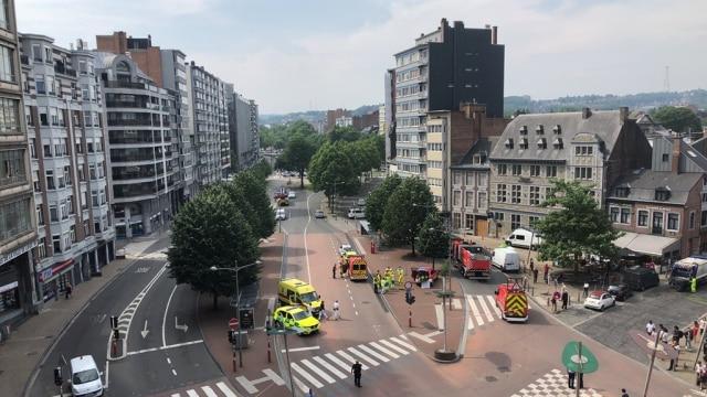 Baku tembaka di Liege, Belgia