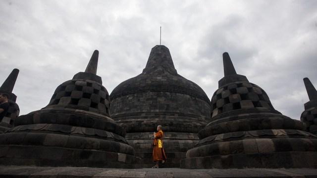 New Normal, Wisatawan yang Menyambangi Candi Borobudur Akan Dipakaikan Stiker (888762)