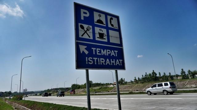 Ada 'Parking Distancing' di Rest Area Selama Libur Lebaran  (726055)