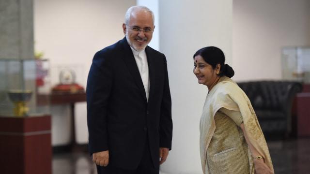 Menlu Iran dan Menlu India