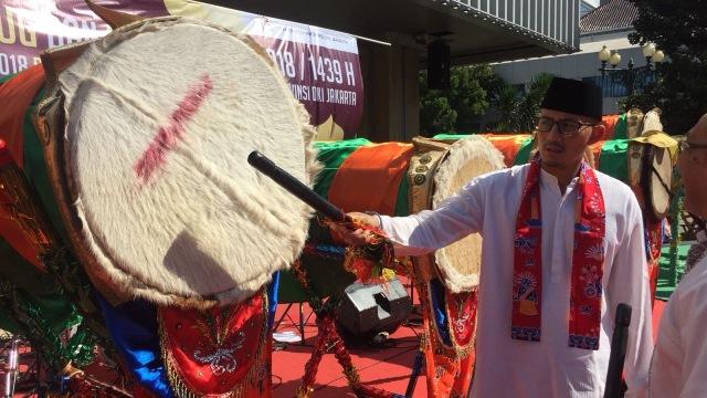 Sandi buka festival beduk di Balai Kota.