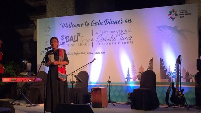 Susi Pudjiastuti Menutup Bali Tuna Conference