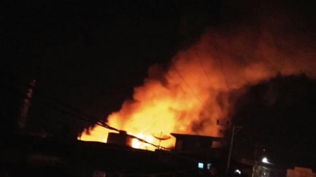 Kebakaran di Sigli, Kab. Pidie, Aceh