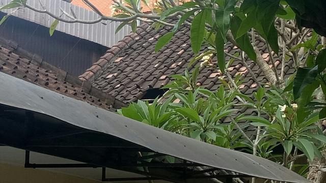 Atap yang menjadi ruang kabur narapidana