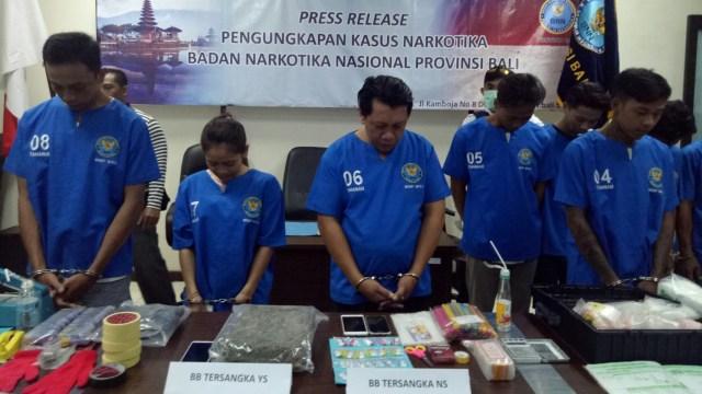 BNNP Bali Tangkap Lima Pengedar Narkoba Jaringan Lapas Kerobokan (194145)