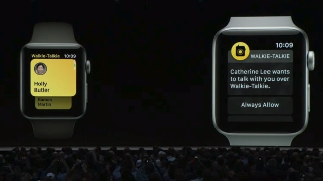 Walkie Talkie di Apple Watch