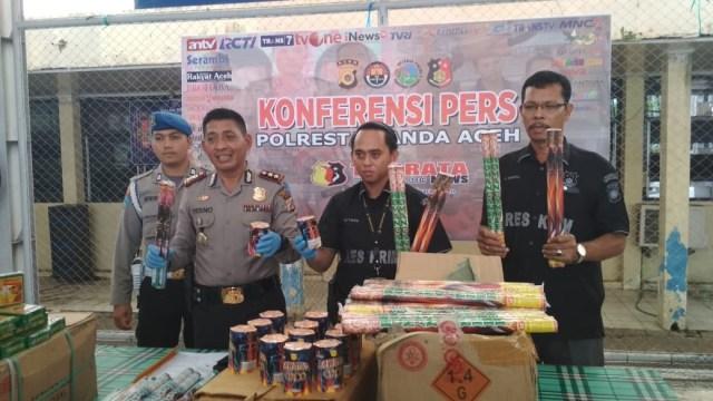 Polresta Banda Aceh tangkap distributor mercon