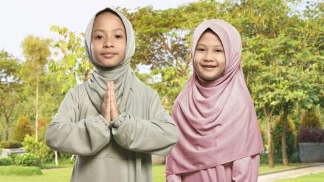 Ilustrasi Baju Lebaran Anak