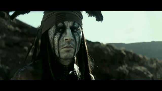 'Johnny Depp di Film The Lone Ranger'