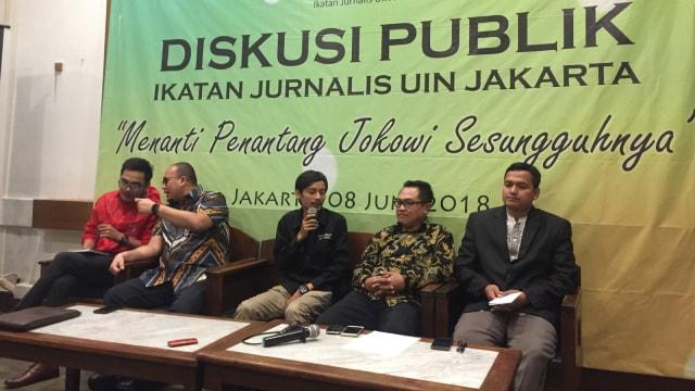 Diskusi Publik Ikatan Jurnalis UIN Jakarta