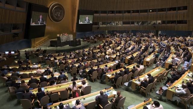 Suasana Voting Majelis Dewan Keamanan PBB