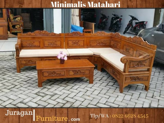 0822 6628 4545 Jual Kursi Sudut Jati Di Garut Toko Furniture Mebel