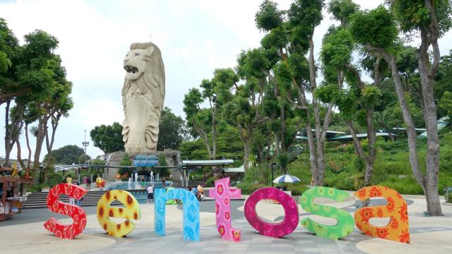 Patung Merlion, Pulau Sentosa.