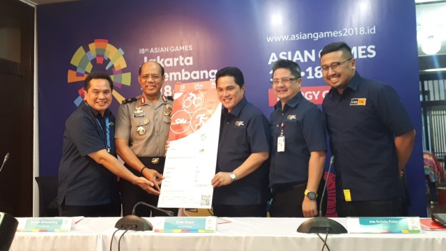 Replika tiket Asian Games