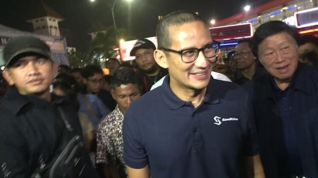 Sandiaga Uno nobar Piala Dunia di Jakarta Fair