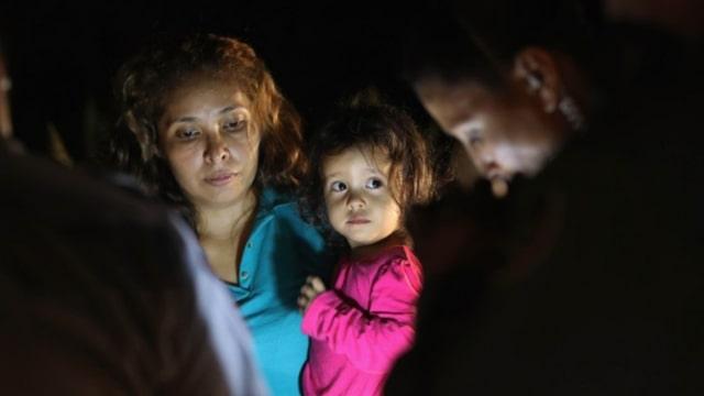 Anak-anak imigran di perbatasan AS-Meksiko