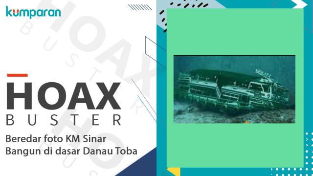 Hoax Buster foto KM Sinar Bangun