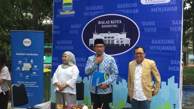 Ridwan Kamil di Taman Sejarah Bandung