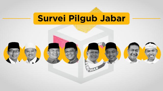 Data 12 Survei Pilgub Jabar: Ridwan Kamil vs Deddy Mizwar (81993)