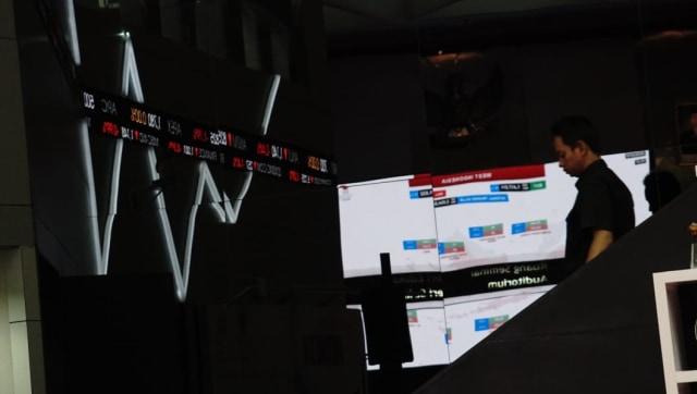 Ilustrasi pergerakan saham di Bursa Efek Indonesia