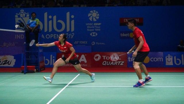 Praveen Jordan dan Melati Daeva Oktavianti di Turnamen Bulu Tangkis Blibli Indonesian Open 2018