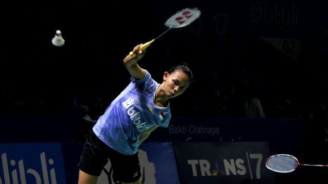 Della Destiara Haris dan Rizki Amelia Pradipta di Turnamen Bulu Tangkis Blibli Indonesian Open 2018