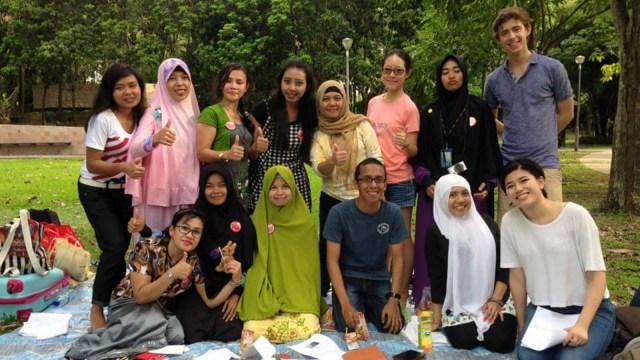 Yoga saat pertukaran pelajar ke Amerika Serikat