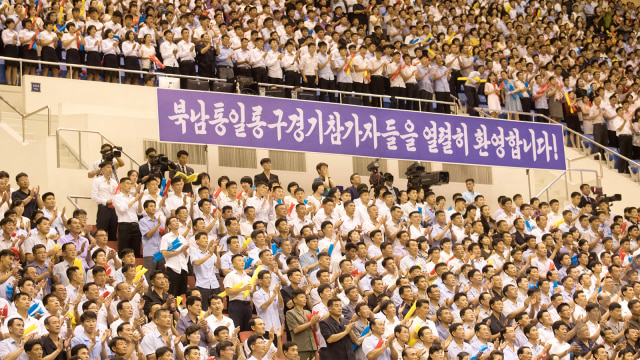 Pertandingan persahabatan Tim Basket Korut dan Korea Selatan