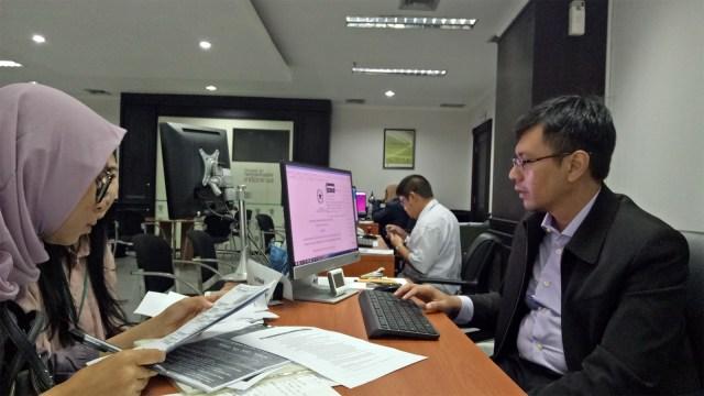 Suasana di PTSP-BKPM di Kantor BKPM