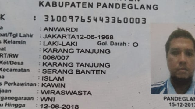 KTP diduga pelaku pengeboman di Pasuruan