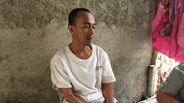 Ade Miskan, suami dari Sarifah korban begal di Tangerang
